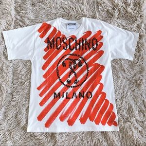 Moschino Red Question Mark Oversized T-Shirt